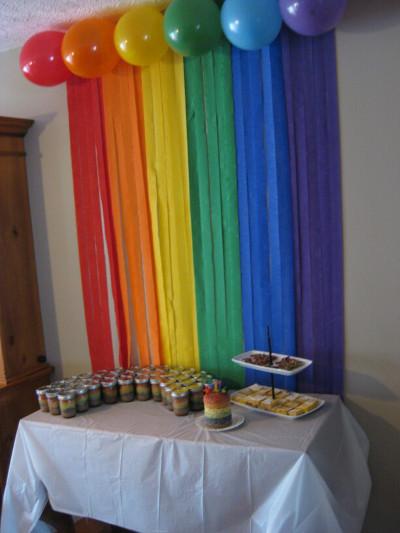 Decora el fondo de tu mesa dulce con serpentinas de papel for Como decorar una torta facil y rapido