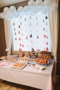 decoracion baby shower con Nubes