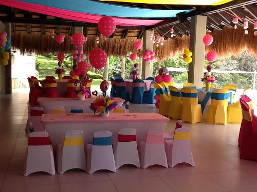 Mantelería spandex en fiestas infantiles